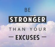 Seja um cartaz mais forte das citações Imagem de Stock