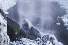 Sejlandfoss, ghiacciato cadute. L'Islanda Fotografie Stock Libere da Diritti