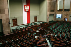 Sejm of the Republic of Poland. Main hall Stock Photo