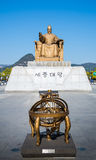 Sejong国王雕象  免版税库存图片