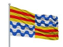Sejong City Flag On Flagpole Sydkorea som isoleras på vit bakgrund royaltyfri illustrationer