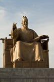 Sejong Statue国王在Gwanghwamun广场,韩国 免版税库存图片