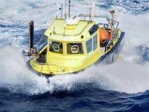 Sejsmiczny workboat na morzu w zatoce meksykańskiej zdjęcie royalty free