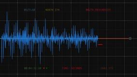 Sejsmograf (Komputerowi trzęsienie ziemi dane) royalty ilustracja