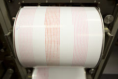 Sejsmografu magnetofonowy trzęsienie ziemi Zdjęcie Stock