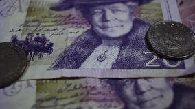 SEK 20 Swedish crown and coins stock footage