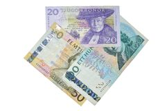 Sek  Swedish crowns banknotes composition Royalty Free Stock Photography