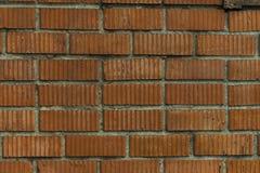 Sekcja ściana z starym kamieniarstwem czerwona cegła na gospodarstwie rolnym zdjęcie stock