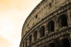 Sekcja fasada Colosseum Flavian Amphitheatre w Rzym, Lazio, Włochy obrazy stock