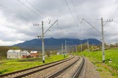 Sekcja kolej Droga dla pociągu obrazy stock