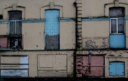 Sekcja nieociosana ściana na zaniechanym budynku obraz royalty free