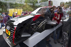 Sekcja o Audi sportowym samochodzie obrazy royalty free