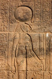Sekhmet. Carving of the ancient Egyptian goddess Sekhmet, depicted with the head of a lioness. Carved on to a wall of the Temple of Isis at Philae, Aswan, Egypt stock photo