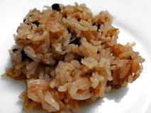 Sekihan - klibbigt ris med azukibönor; Royaltyfri Fotografi