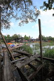 Sekinchan fiskby Arkivbilder