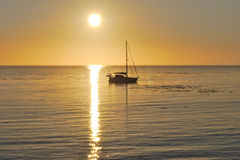 Sekiu Sailboat at Sunrise Stock Images