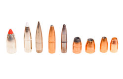 Seklection of bullets Royalty Free Stock Photos