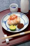 Seko gani, ångad kvinnlig snökrabba, japansk mat arkivfoto