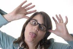 Sekretär, der Spaß bildet Stockbilder