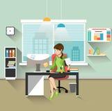 Sekretär im Büro Stockbild