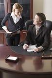 Sekretär und Chef Lizenzfreie Stockfotos