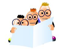 Sekretärinnen lasen einen Finanzreport Stockfotos