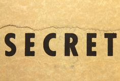Sekret Fotografia Stock