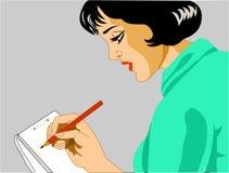 Sekretarka bierze notatki Obrazy Royalty Free