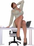 sekretarka seksowna Zdjęcie Royalty Free