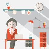 Sekretarka w biurze ilustracji