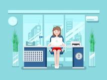 Sekretarka w biurze Fotografia Stock