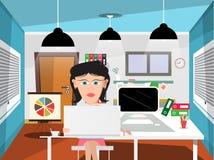Sekretarka w biurze royalty ilustracja