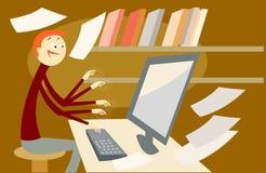 sekreterare stock illustrationer