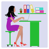sekreterare royaltyfri illustrationer