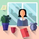 Sekreterare eller affärskvinna Fotografering för Bildbyråer