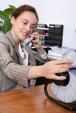 sekreterarekvinna Arkivbild