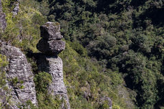 Sekretu kamień Cambara robi Sul - Serra Geral park narodowy - Fotografia Royalty Free
