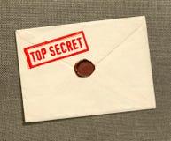 sekretu kopertowy wierzchołek zdjęcie stock