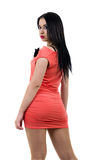 Seksowna ładna dziewczyna przyglądająca z powrotem Zdjęcie Royalty Free