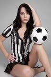 seksowna arbiter piłka nożna zdjęcia royalty free