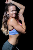 Seksowna atleta z mokrym włosy Obrazy Royalty Free