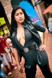 Seksowna Azjatycka kobieta Cosplay, Żeński portret, San Diego Komiczny przeciw 2014 Fotografia Royalty Free