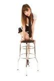 seksowna barchair kobieta Obrazy Royalty Free