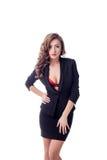 Seksowna biznesowa kobieta z pełnymi wargami Zdjęcie Stock