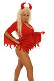 Seksowny blond diabeł Obraz Stock