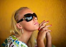seksowna blondynka Obrazy Royalty Free