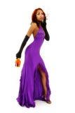 Seksowna Czarna kobieta Dymi cygaro Z alkoholem Fotografia Stock