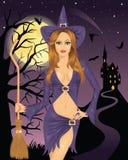 seksowna czarownica ilustracji