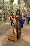 Seksowna czarownica przy Lucca komiczkami 2017 i grami zdjęcie royalty free