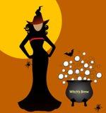 Seksowna czarownica z parzeniem Obrazy Royalty Free
